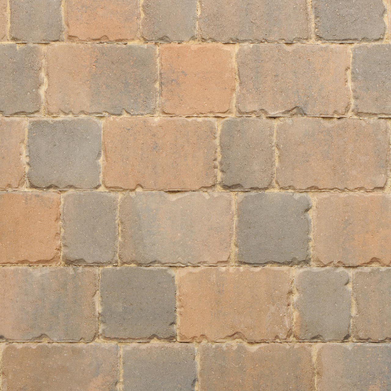 Applesby Antique Paviors 3 Size Project Pack 9.6m² Burnt Ochre image 0