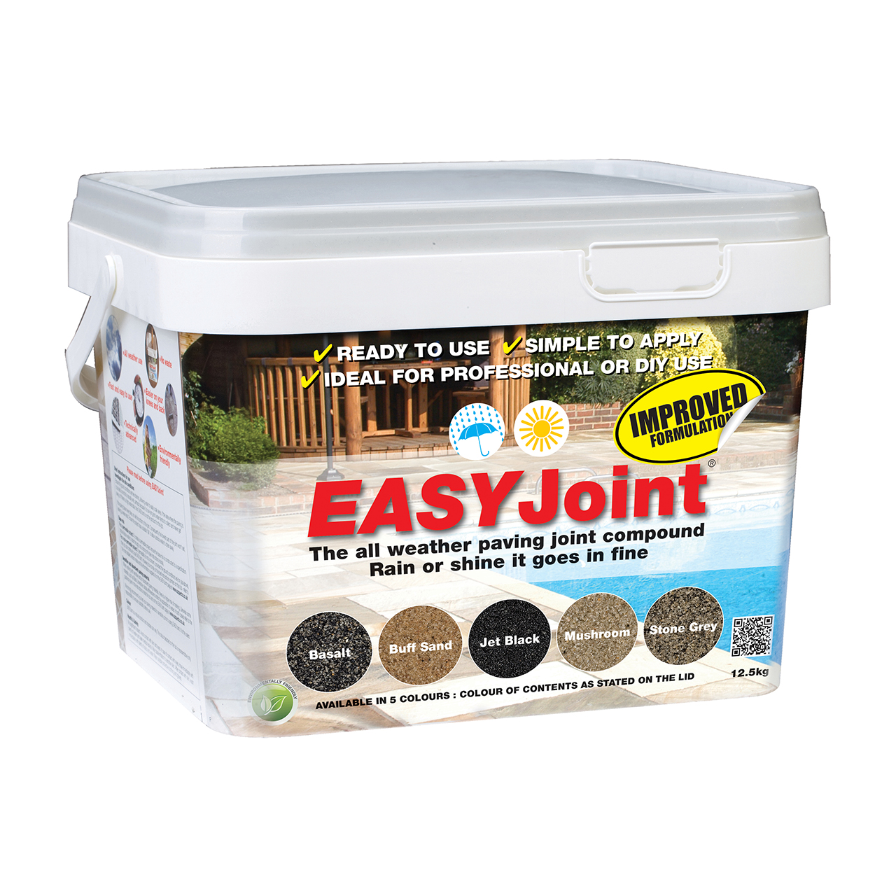 EASYJoint All Weather Jointing Compound Stone Grey 12.5kg image 0