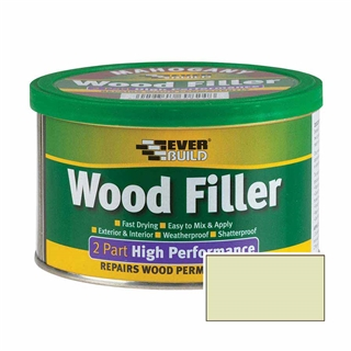 Everbuild 2 Part High Performance Wood Filler Light 500g