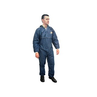 "Scan Disposable Overall Navy Size XXL (48-54"")"