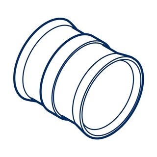 Polypipe Polysewer 300mm Slip Coupler PS1200