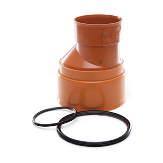 Polypipe Polysewer 300mm Level Invert Reducer 300mm x 225mm PS1221