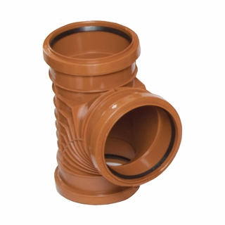 Polypipe Polysewer 150mm 90° Triple Socket Equal Junction PS623