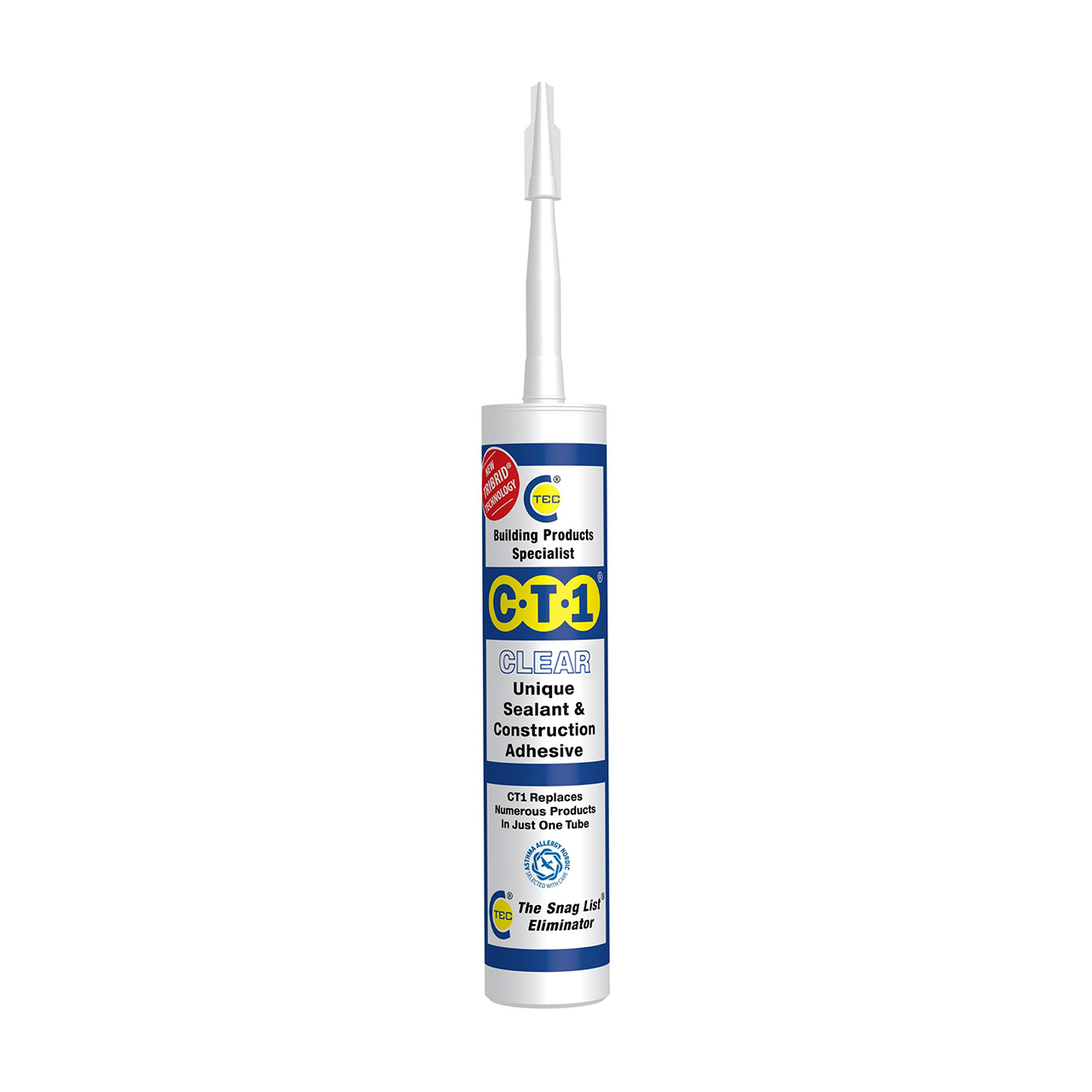CT1 Sealant and Construction Adhesive Clear 290ml image 0