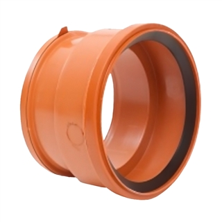 Polypipe Polysewer 150mm Double Socket to Super Clayware PS634