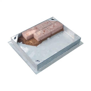 Block Pavior Internal Recessed Tray Manhole Cover and Frame 450mm x 450mm x 100mm Depth