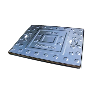 10 Tonne Pressed Steel Single Seal Manhole Cover and Frame 600mm x 450mm x 25mm Depth