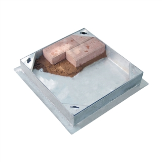 Block Pavior Internal Recessed Tray Manhole Cover and Frame 450mm x 450mm x 115mm Depth