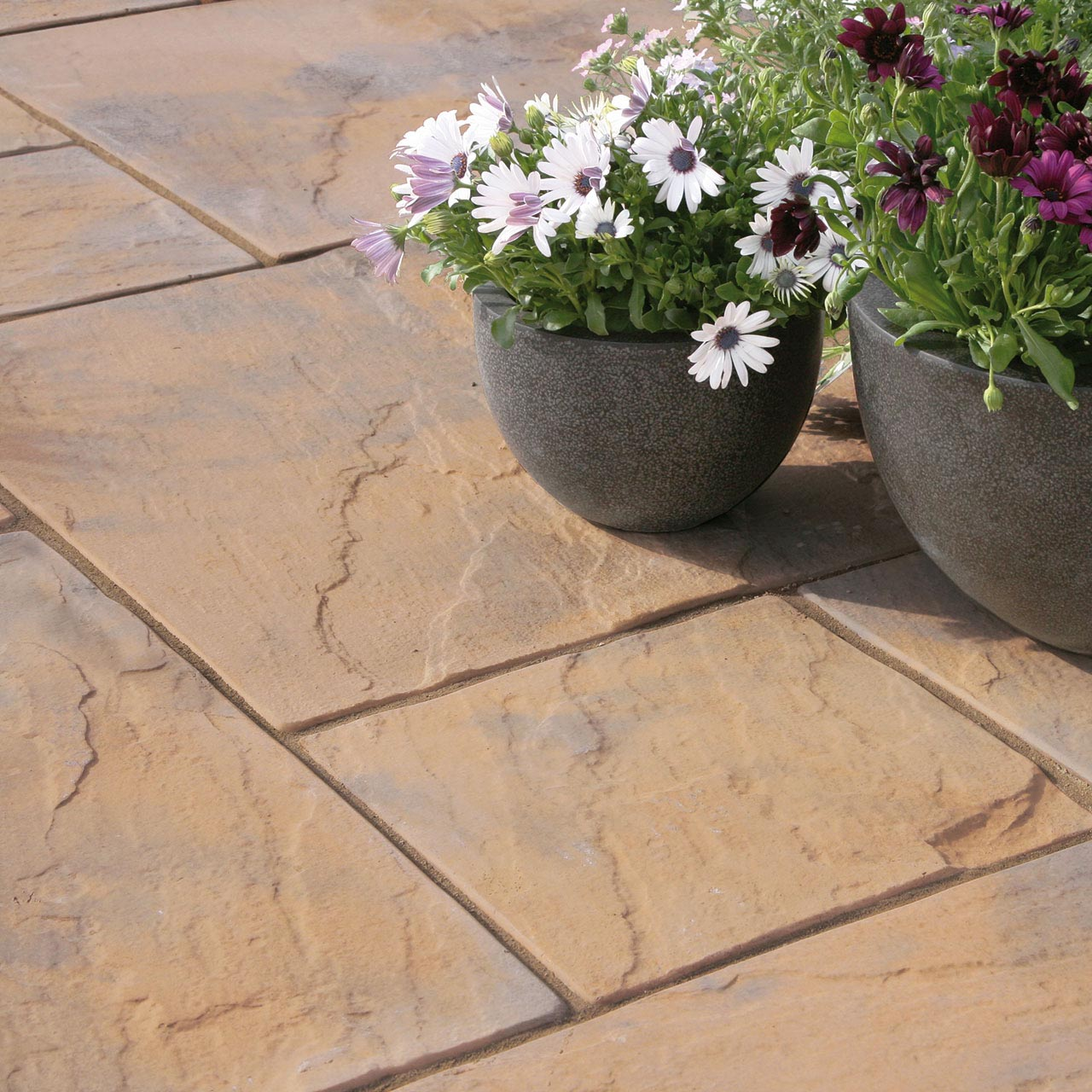 Bourton Riven Paving 300mm x 300mm x 32mm Weathered Autumn image 2