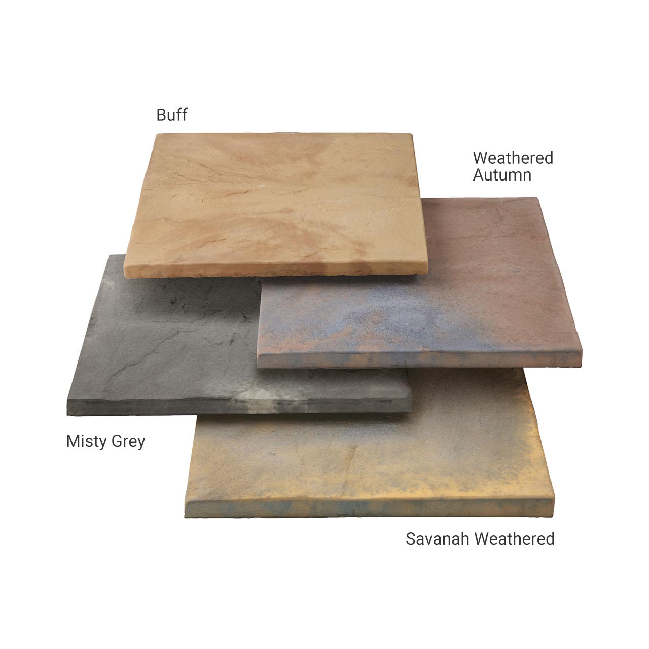 Bourton Riven Paving 3 Size Project Pack 5m² Weathered Autumn image 0