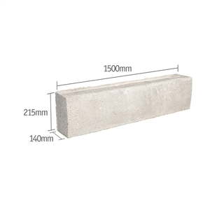 Prestressed Concrete Lintel 140mm x 215mm 1500mm (R - Type G8)