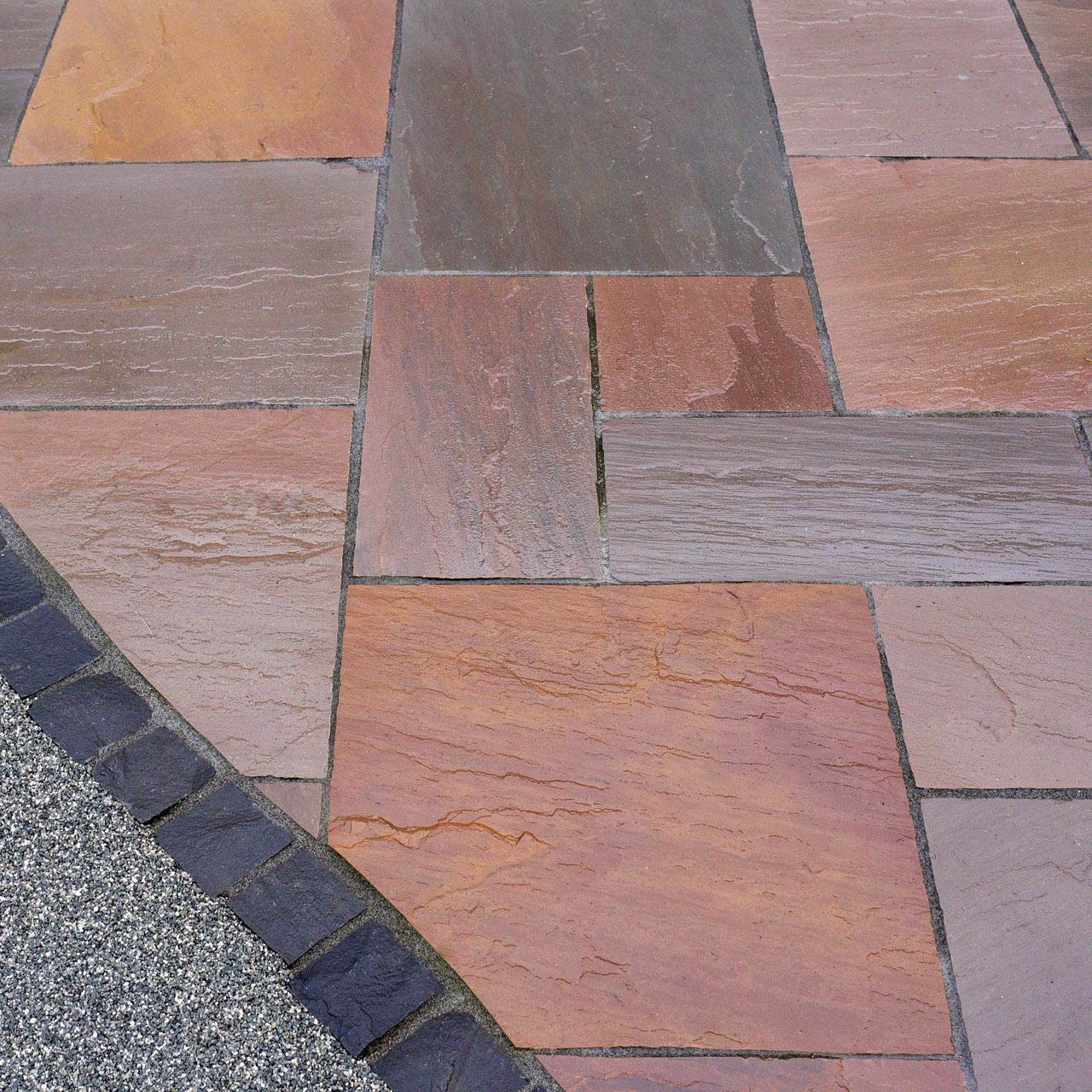 Marketstone Calibrated Paving 5 Size ¾ Crate Project Pack 15.82m² Autumn Multi image 3