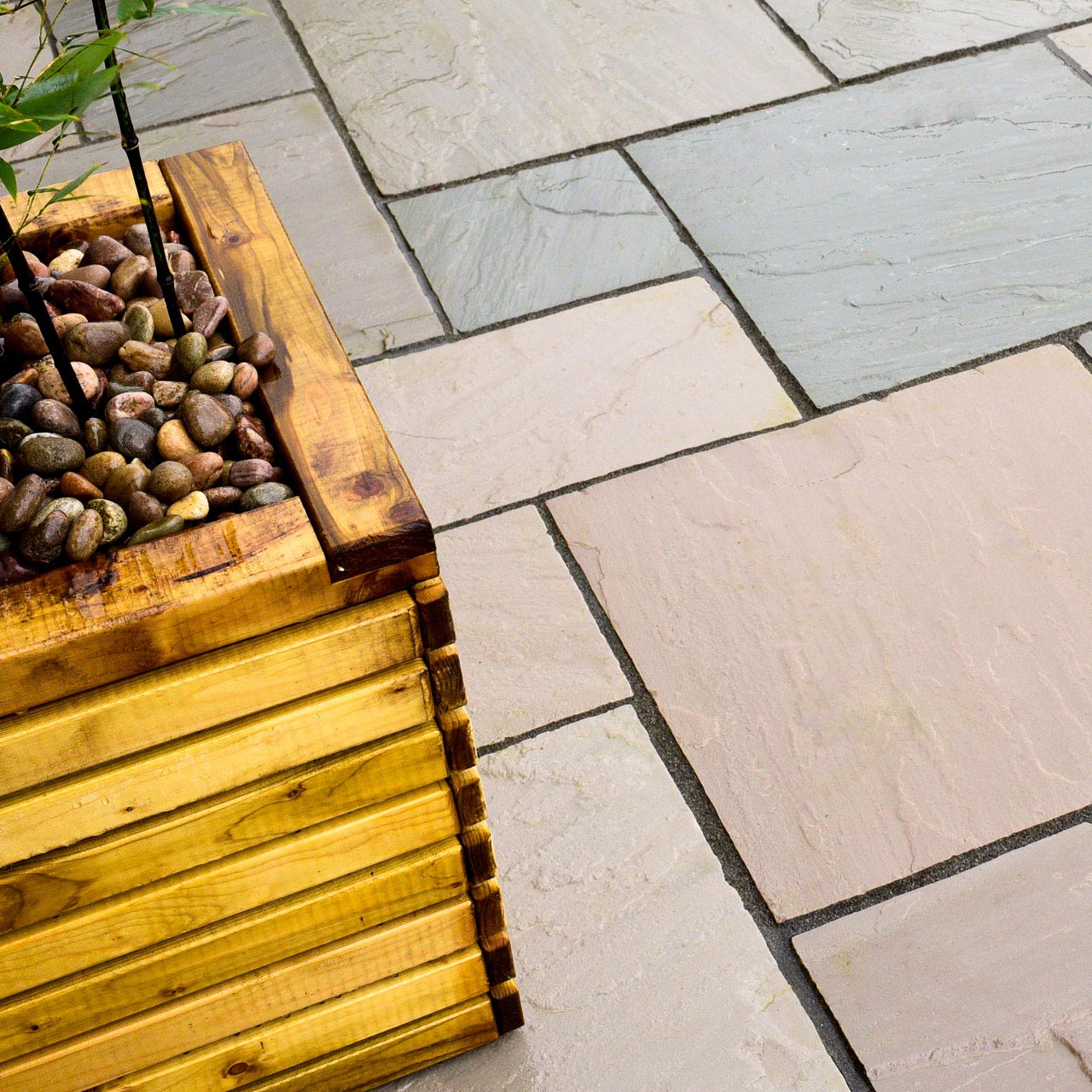 Marketstone Calibrated Paving 5 Size ¾ Crate Project Pack 15.82m² Grey Multi image 3