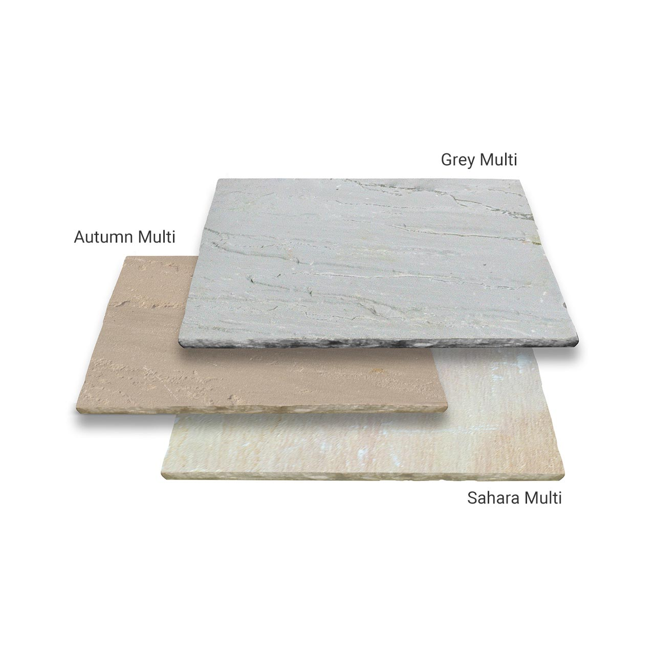 Marketstone Calibrated Paving 5 Size ¾ Crate Project Pack 15.82m² Grey Multi image 0