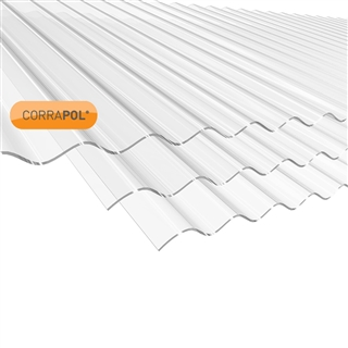 Corrapol Clear Corrugated Roofing Sheet 840mm x 1830mm AC19