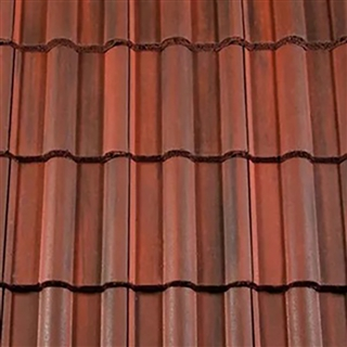 Redland Double Roman Roof Tile - Rustic Red