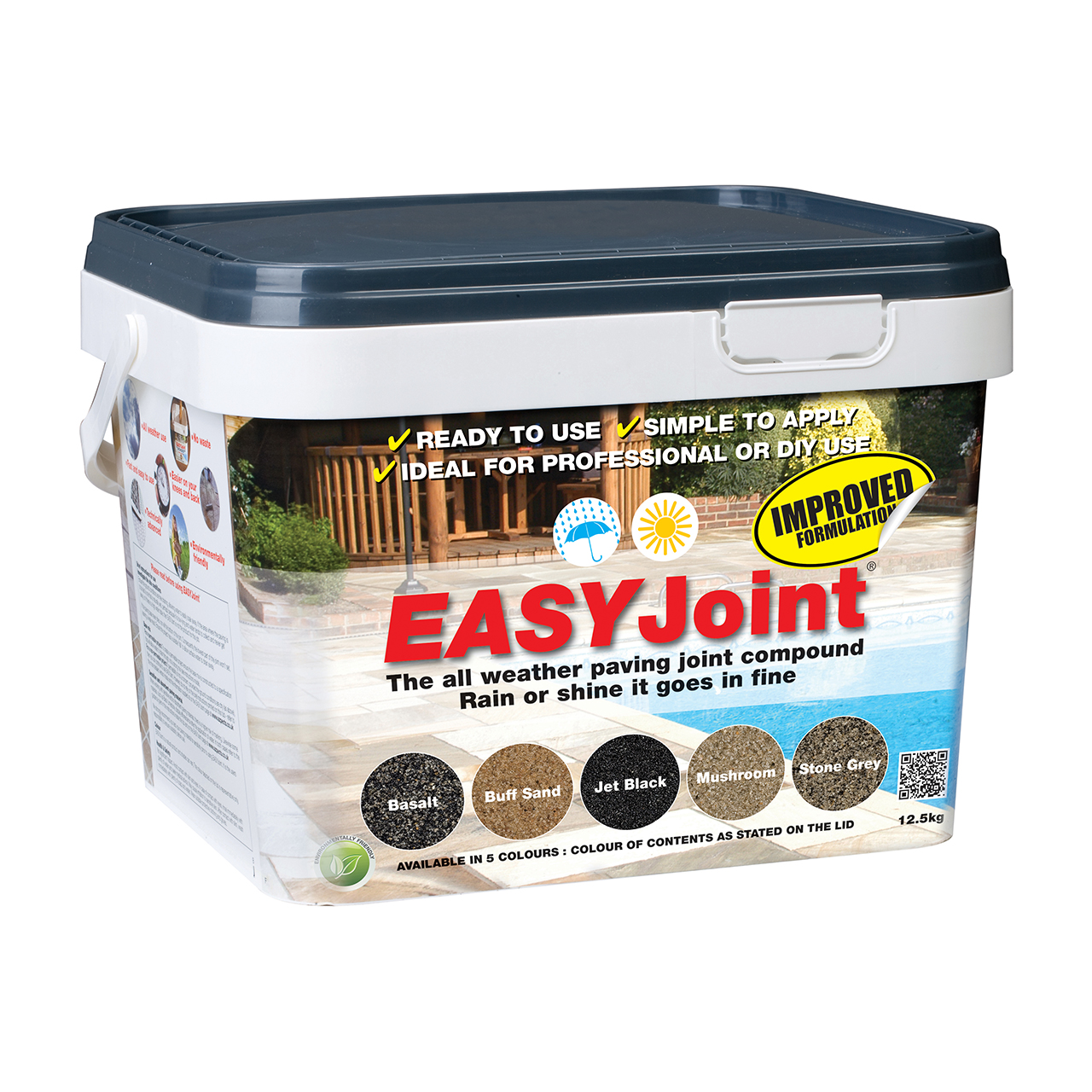EASYJoint All Weather Jointing Compound Basalt 12.5kg image 0