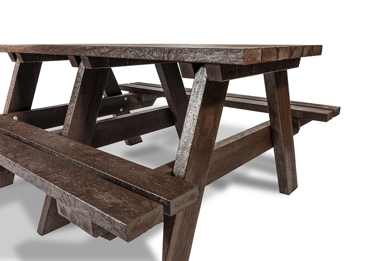 Plaswood Hero A-Frame Table Semi-Assembled - Brown image 1