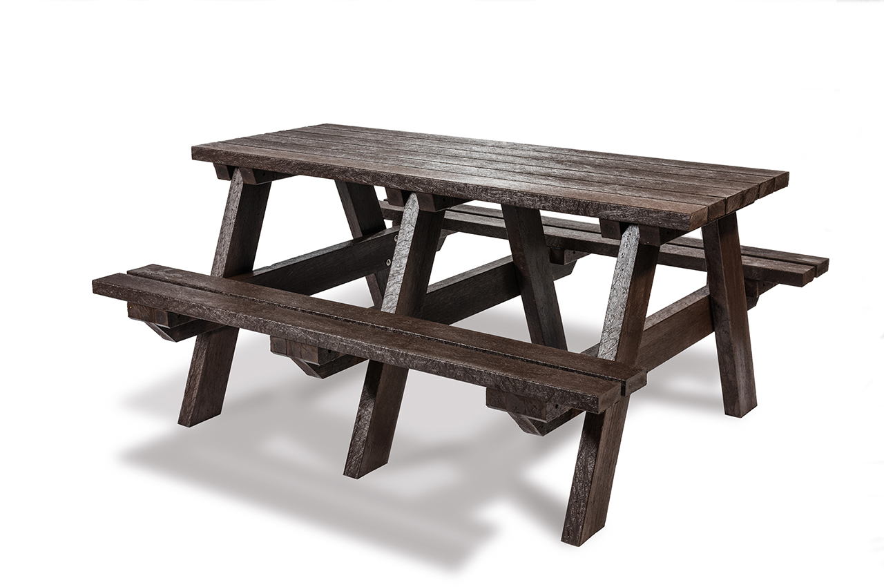 Plaswood Hero A-Frame Table Semi-Assembled - Brown image 2