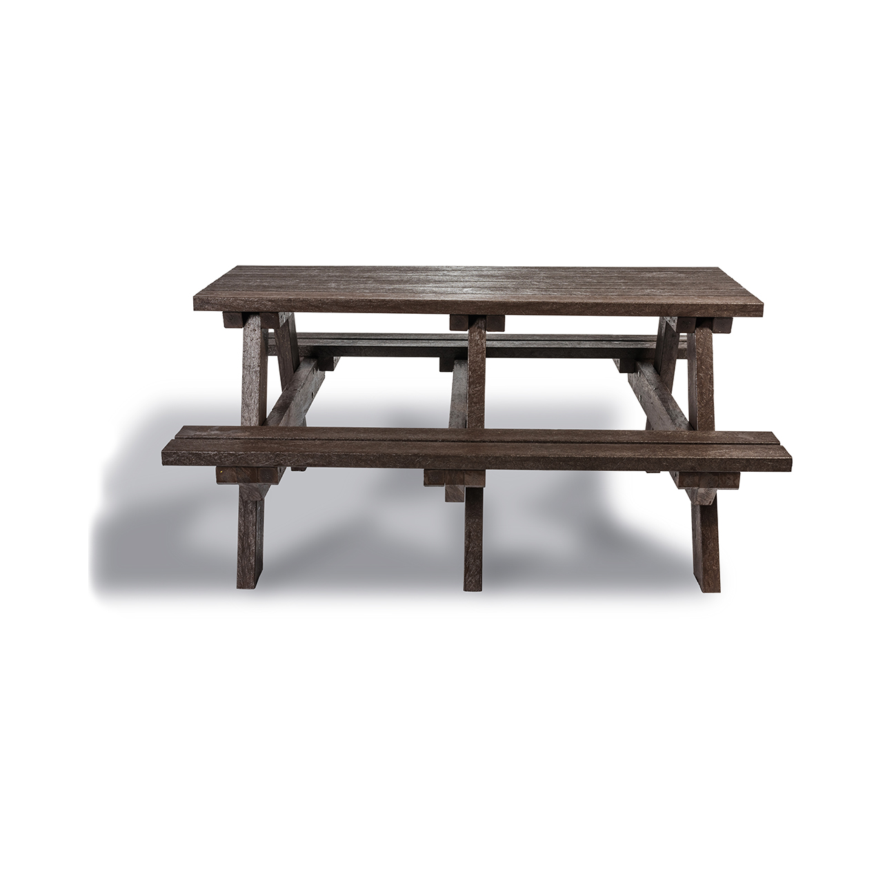 Plaswood Hero A-Frame Table Semi-Assembled - Brown image 0