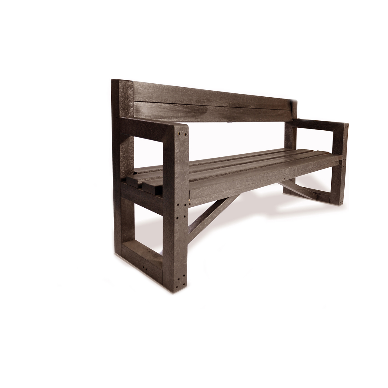 Plaswood Our City Bench Fully Assembled 1700mm - Brown image 1