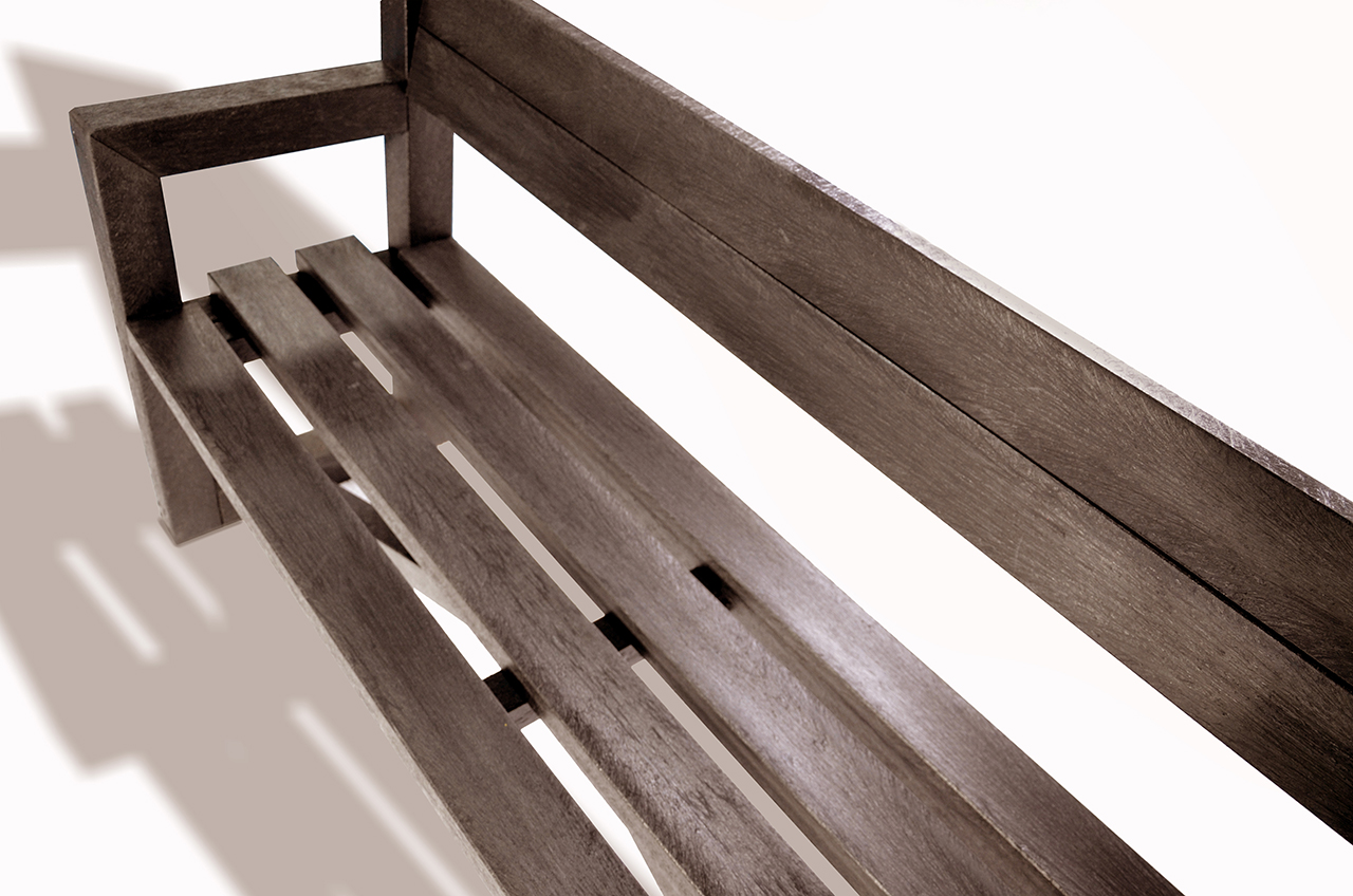Plaswood Our City Bench Fully Assembled 1700mm - Brown image 2