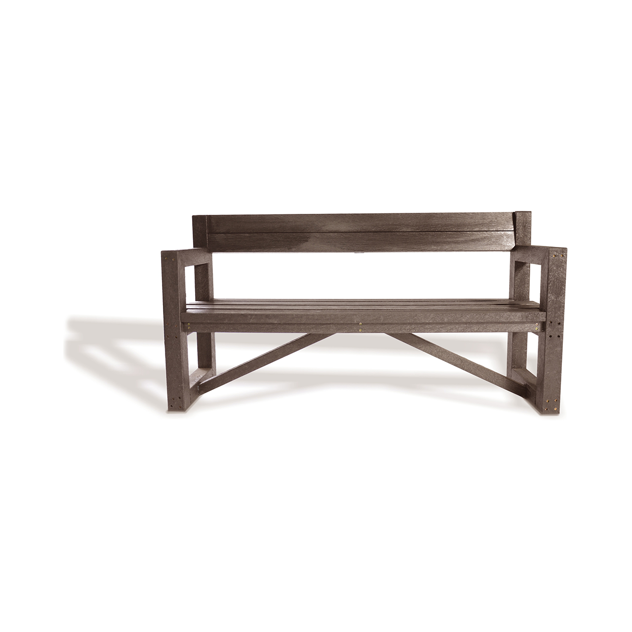 Plaswood Our City Bench Fully Assembled 1700mm - Brown image 0