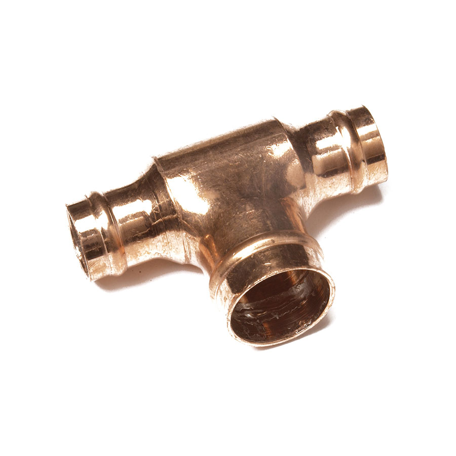 Solder Ring Fitting Reduced Tee 28mm x 28mm x 22mm image 0