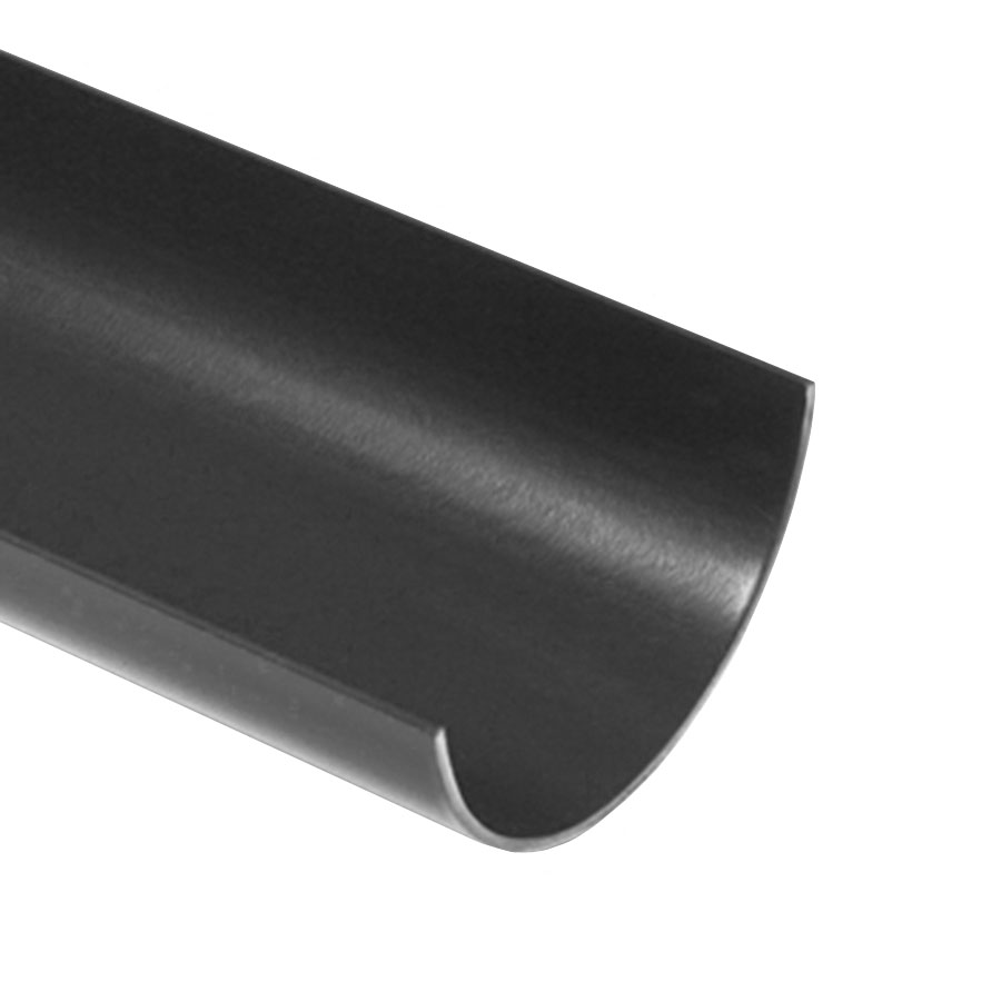 Polypipe Half Round Rainwater 112mm 2m Gutter Black RR100 image 0