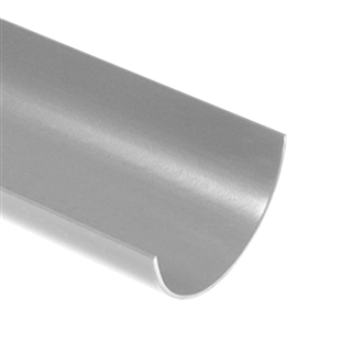 Polypipe Half Round Rainwater 112mm 2m Gutter Grey RR100