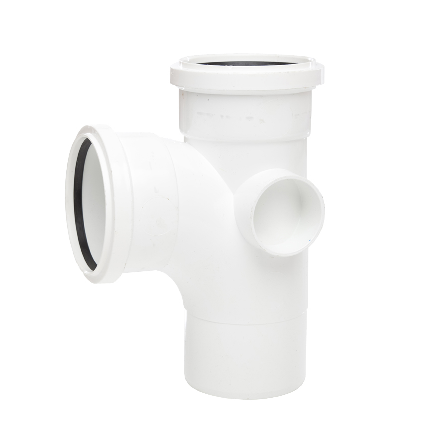 Polypipe Soil & Vent 110mm 92½° Single Branch White ST401 image 0