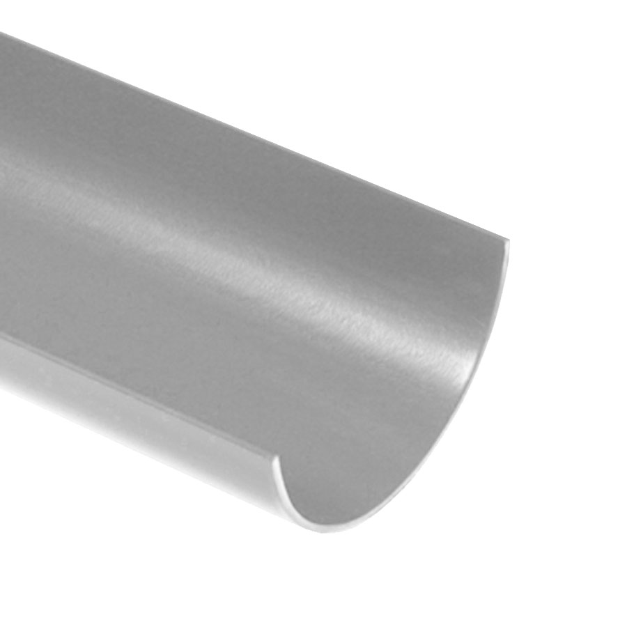 Polypipe Half Round Rainwater 112mm 4m Gutter Grey RR101 image 0