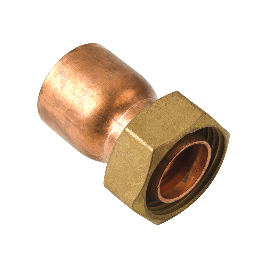 """Endfeed Fitting Straight Tap Connector 15mm x ¾"""" image 0"""