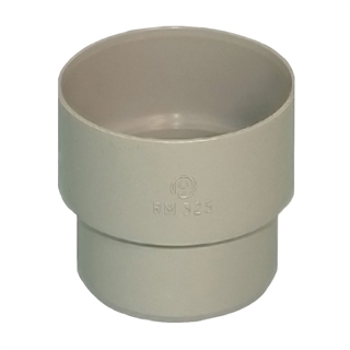 Polypipe Rainwater Round Pipe 50mm Connector Grey RM325