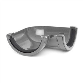 Polypipe Half Round Rainwater 112mm Gutter Angle 90° Grey RR103