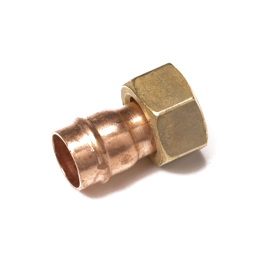 """Solder Ring Fitting Straight Tap Connector 15mm x ¾"""" image 0"""