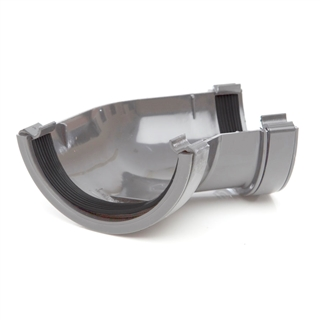 Polypipe Half Round Rainwater 112mm Gutter Angle 135° Grey RR104