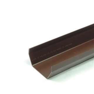 Polypipe Square Rainwater 112mm Gutter 4m White RS201
