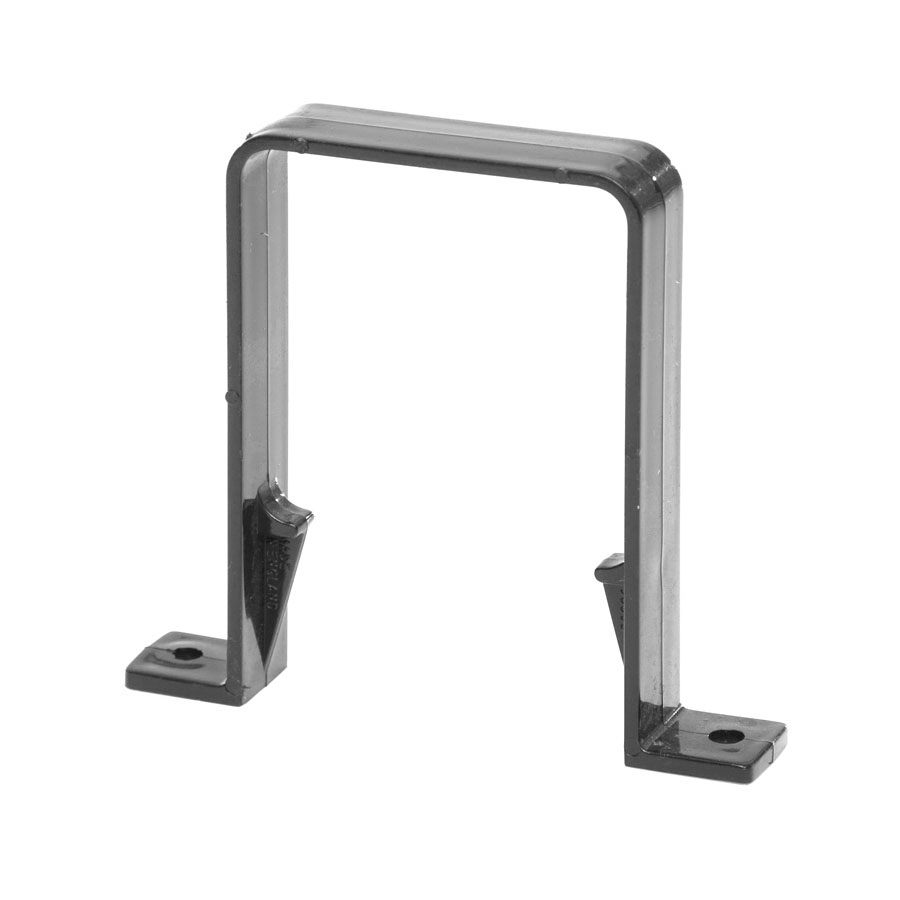 Polypipe Square Rainwater 65mm Square Pipe Brackets Black RS226 image 0