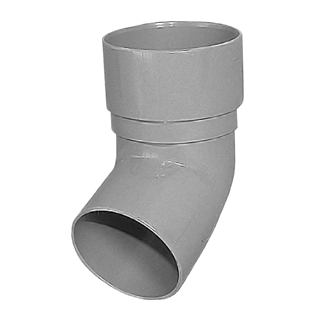 Polypipe Rainwater Round Pipe 50mm 112° Bend Grey RM327
