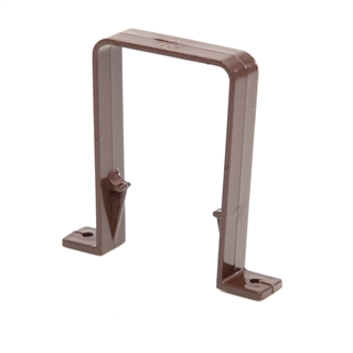 Polypipe Square Rainwater 65mm Square Pipe Bracket Brown RS226
