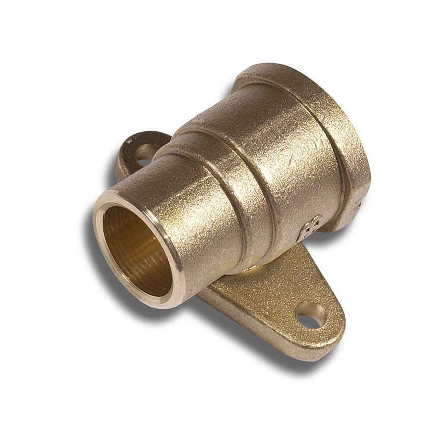 """Endfeed Fitting ½"""" FI x 15mm Straight Wall Plate image 0"""