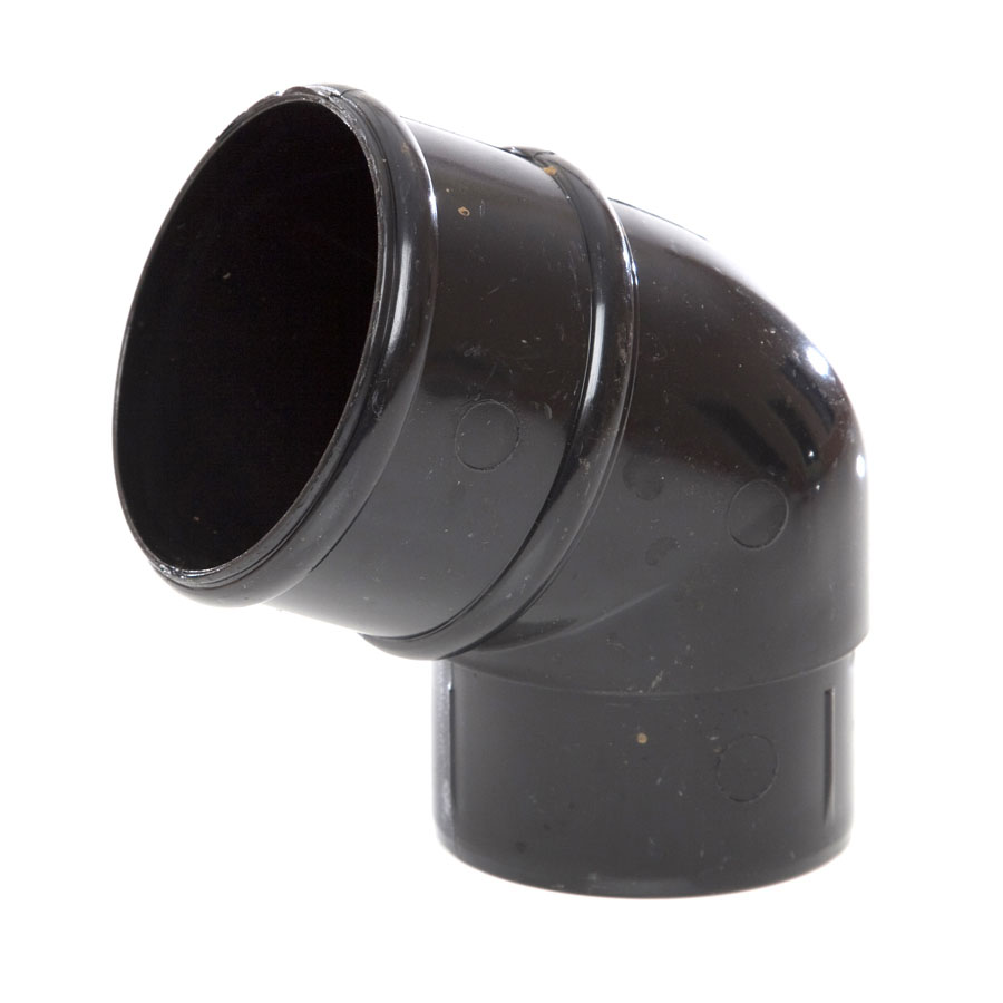 Polypipe Rainwater Round Pipe 68mm 112½° Bend Black RR127 image 0