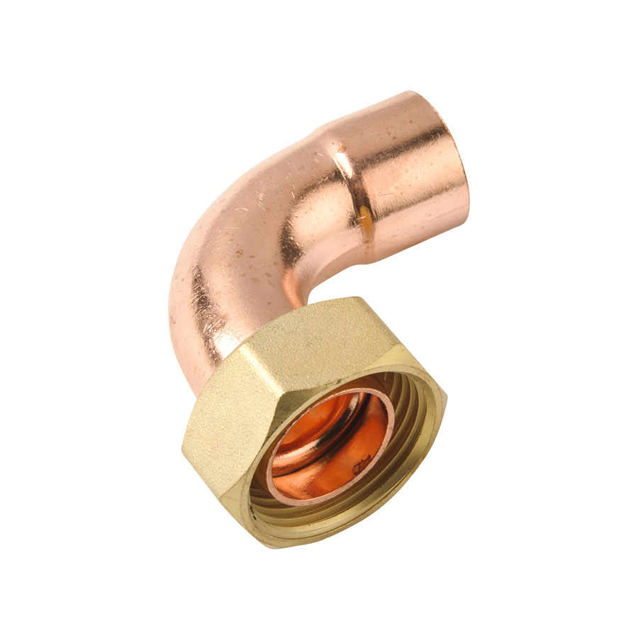"""Endfeed Fitting Bent Cylinder Union 22mm x 1"""" image 0"""