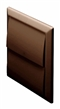 Domus Wall Outlet with Gravity Flaps Brown image 0