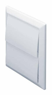 Domus Wall Outlet with Gravity Flaps White