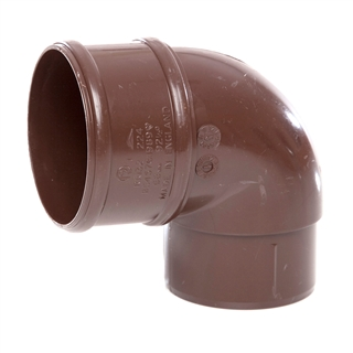 Polypipe Rainwater Round Pipe 68mm 92½° Bends Brown RR132