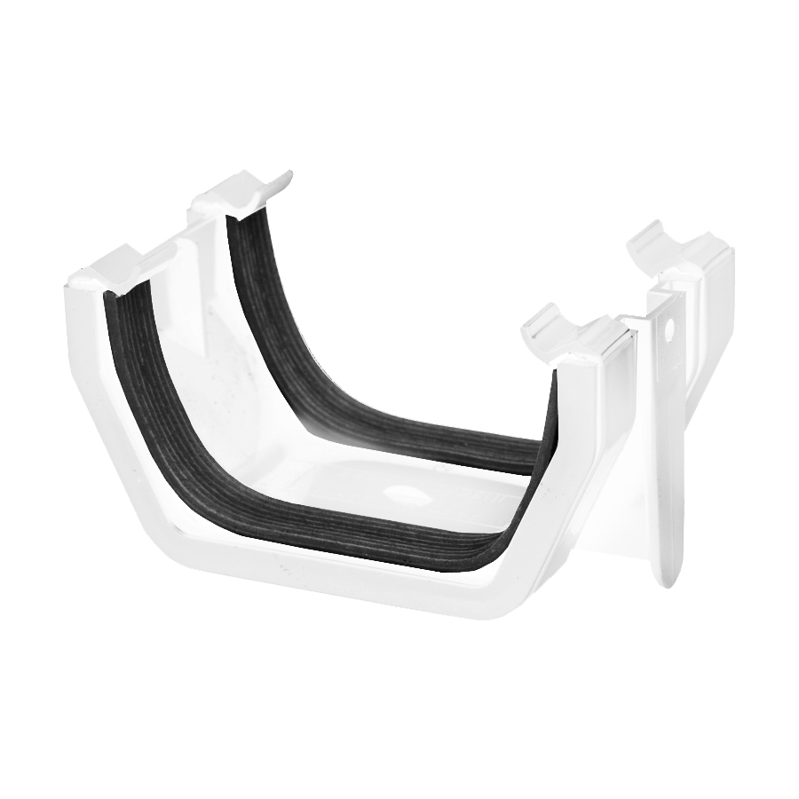 Polypipe Square Rainwater 112mm Gutter Union Bracket White RS202 image 0