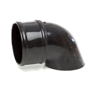Polypipe Rainwater Round Pipe 68mm Pipe Shoe Black RR128