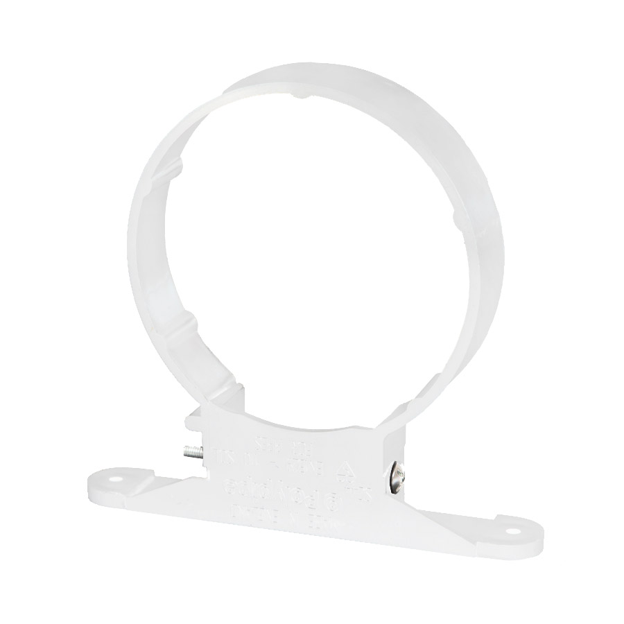 Polypipe Soil & Vent 110mm Pipe Clip White SC44 image 0